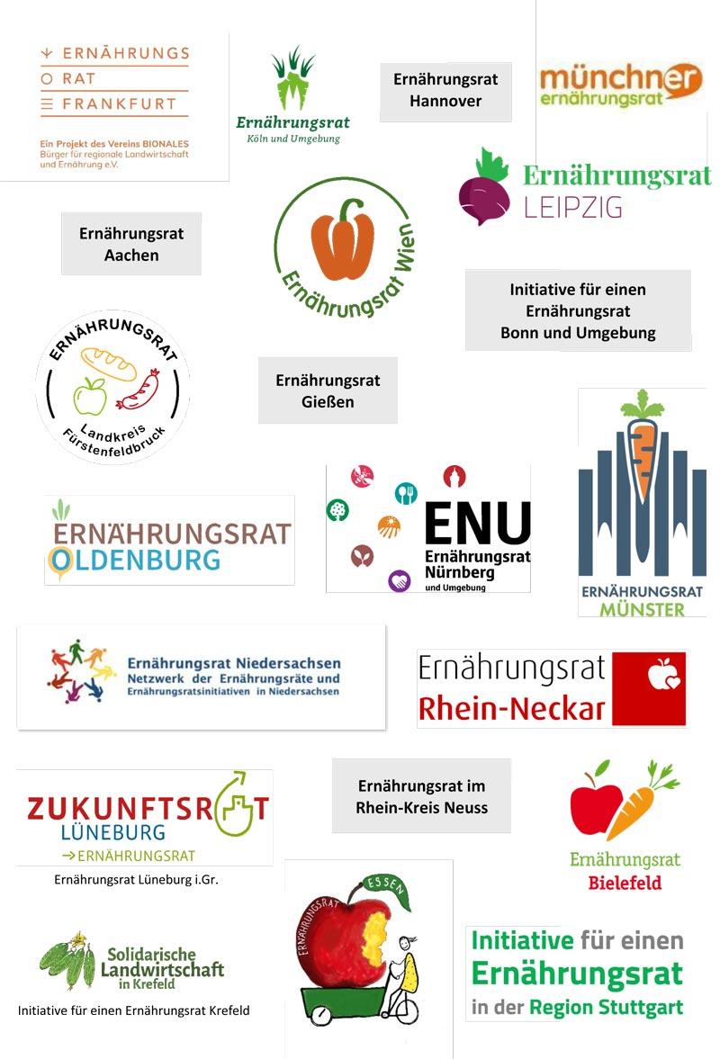 Logos der Unterstützenden Ernährungsräte